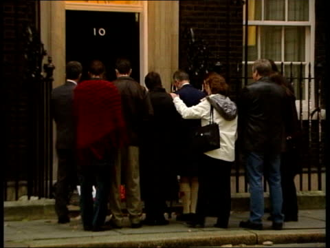 Relatives of British soldiers killed in conflict protest at Downing Street ITN London Downing treet Relatives of British soldiers killed in Iraq...