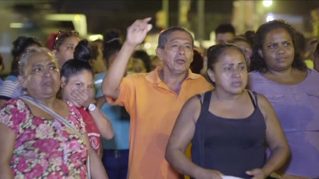 relatives of prisoners gather outside the litoral prison in ecuador after six inmates were killed in a shootout inside the jail - litoral stock videos & royalty-free footage