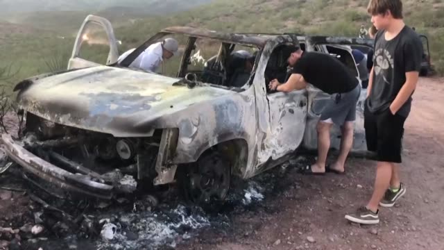 relatives of the mormon family killed on the northern border of mexico arrive at the place where the convoy was attacked in an ambush - mormonism stock videos & royalty-free footage