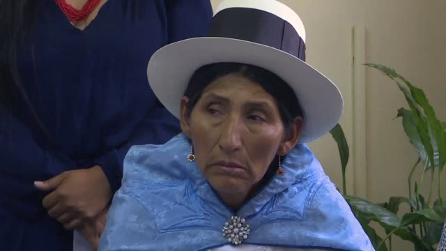 Relatives of victims of killings under former Peruvian president Alberto Fujimori call for a march on January 30 ahead of an audience at the Inter...