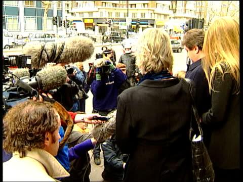 CRASH Relatives of victims of Paddington Rail Crash towards to press conference from Inquest CMS Martin di Lieto statement SOT Railtrack have proved...