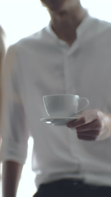 relax coffee & meeting - business talk stock videos & royalty-free footage