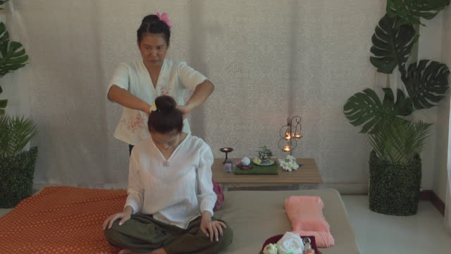 relax in spa - massager stock videos and b-roll footage