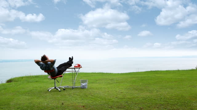 relax nature businessman - office chair stock videos & royalty-free footage