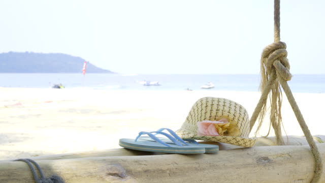 relax on the beach - slipper stock videos and b-roll footage
