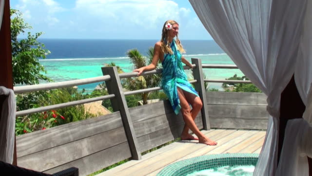 stockvideo's en b-roll-footage met relax on the terrace - gazebo