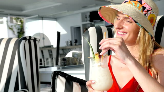 relax & vacations & tropical drink - tropical drink stock videos & royalty-free footage