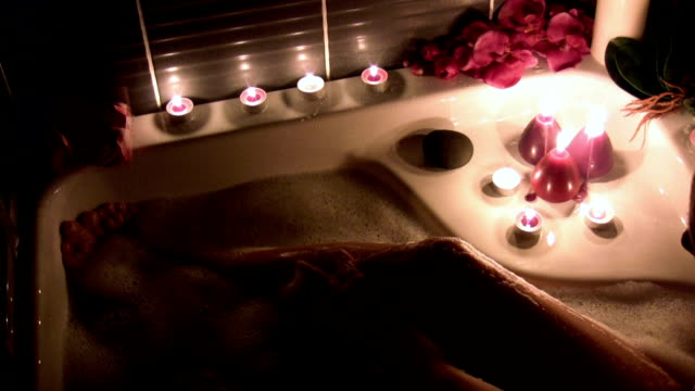 relaxation bath - candle stock videos & royalty-free footage