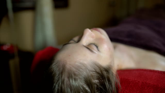 relaxing body and mind - massage table stock videos & royalty-free footage