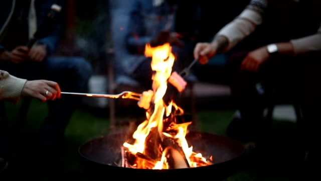 relaxing evening by the fire - twilight stock videos & royalty-free footage