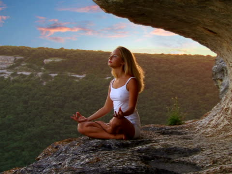 relaxing girl - zen like stock videos & royalty-free footage