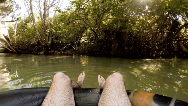 relaxing in eli creek - floating on water stock videos & royalty-free footage