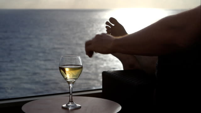 relaxing in the ocean air - cruise stock videos & royalty-free footage
