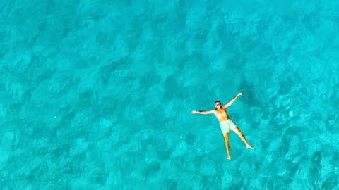 relaxing in the sea - float stock videos & royalty-free footage