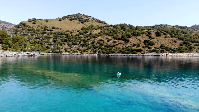 relaxing in the water. - fethiye stock videos and b-roll footage