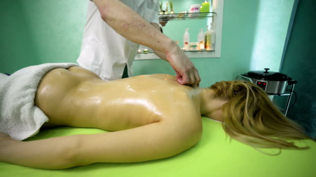 relaxing massage - massage oil videos stock videos and b-roll footage