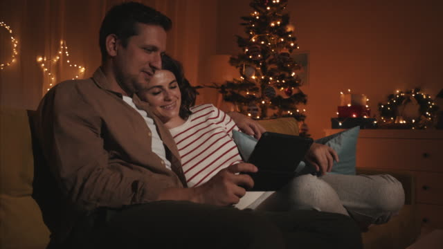 relaxing moments during christmas time. - cosy stock videos & royalty-free footage