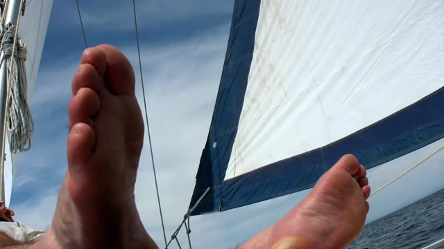HD: Relaxing On A Sailboat