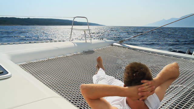 HD: Relaxing On The Sailing Catamaran