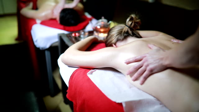 relaxing together - massage stock videos & royalty-free footage