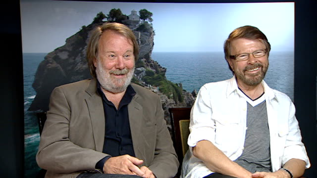 Release of new Abba musical 'Mamma Mia The Movie' * * Music 'Dancing Queen' by Abba heard during the following shots SOT * * Bjorn Ulvaeus and Benny...