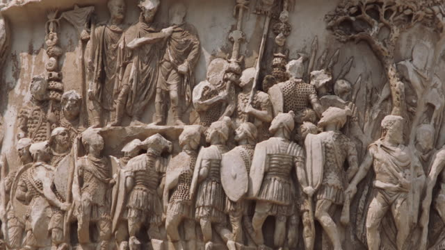 CU Relief carving on Trajan's Column / Rome, Italy