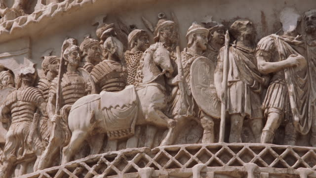 cu relief carving outside of church / rome, italy - animal representation stock videos & royalty-free footage