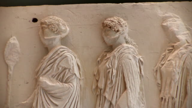 relief from ancient greece - acropolis athens stock videos & royalty-free footage