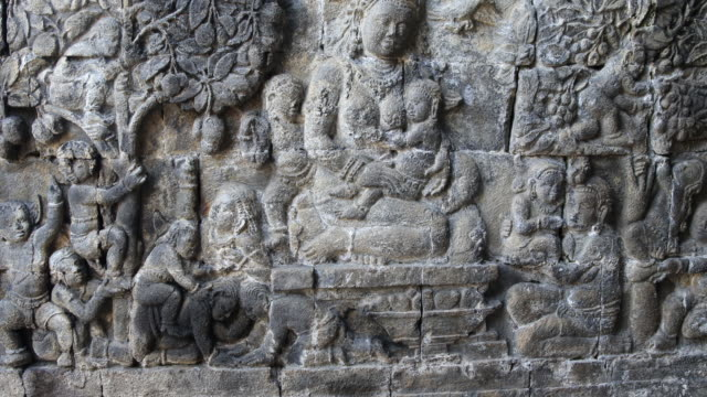 reliefs in mendut temple - female likeness stock videos & royalty-free footage