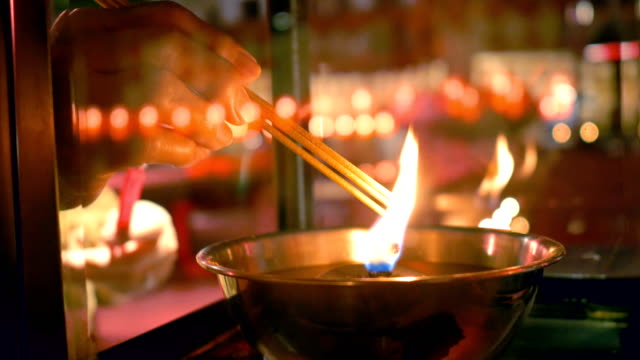 religion chinese culture - incense stock videos & royalty-free footage