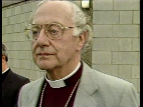 "lambeth conference: women bishops; england, kent, canterbury cms robert runcie interview sof ""yes, it won't -- woman bishop"" - robert runcie stock videos & royalty-free footage"