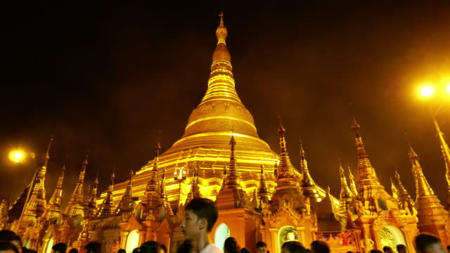 religion : shwedagon pagoda temple yangon city, myanmar - stupa stock videos & royalty-free footage