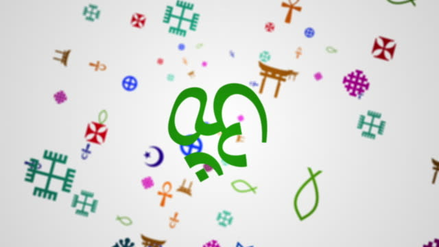 religions symbols composite - christianity stock videos & royalty-free footage