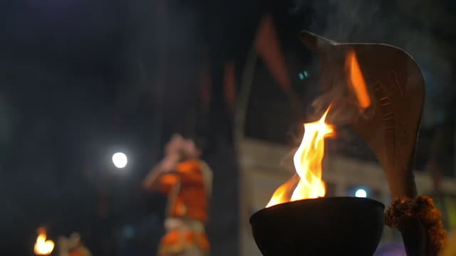 religious ceremony of an indigenous tribe, slow motion - mythologie stock-videos und b-roll-filmmaterial