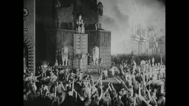 a religious ceremony takes place in the city of babylon - silent film stock videos & royalty-free footage