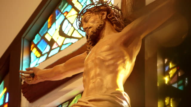 religious cross and jesus - irritation stock videos & royalty-free footage