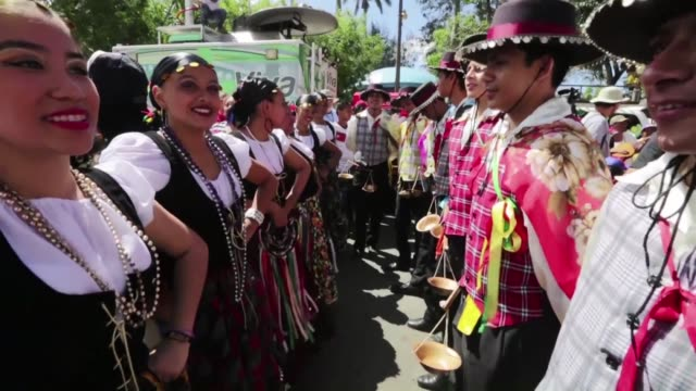 religious festivities start in the small village of diriamba in nicaragua where followers worship their patron saint san sebastian surrounded by food... - religious saint stock videos and b-roll footage