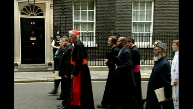 religious leaders christmas messages 2007; england: london: downing street: ext cardinal cormac murphy o'connor along with delegation of religious... - cormac murphy o'connor stock videos & royalty-free footage