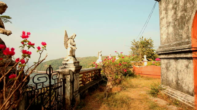 religious monument in goa - statue stock videos & royalty-free footage