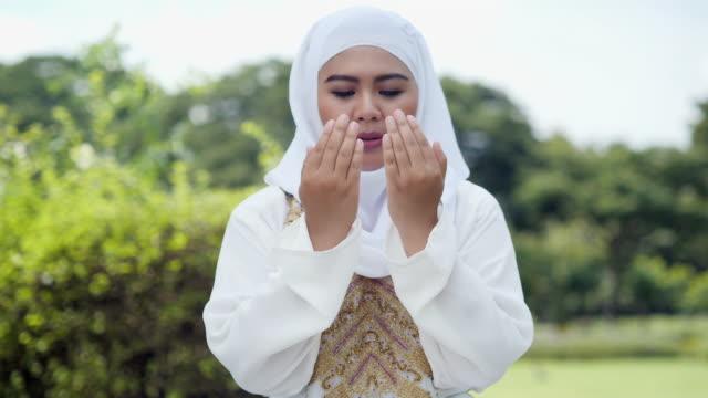 Religious muslim woman praying.Muslim Lifestyle