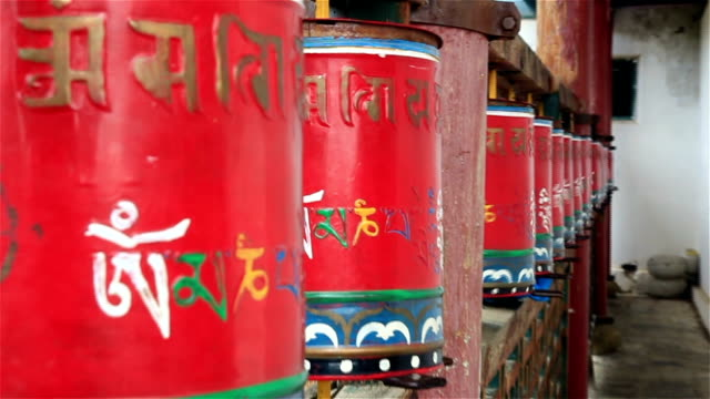 religious prayer wheels - religious celebration stock videos and b-roll footage