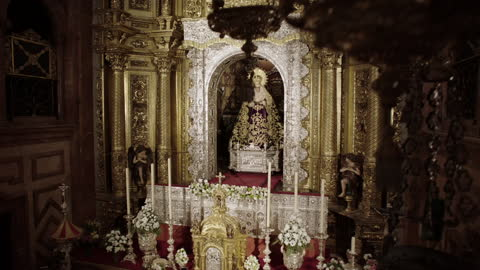 ws religious statue in spain - female likeness stock videos & royalty-free footage