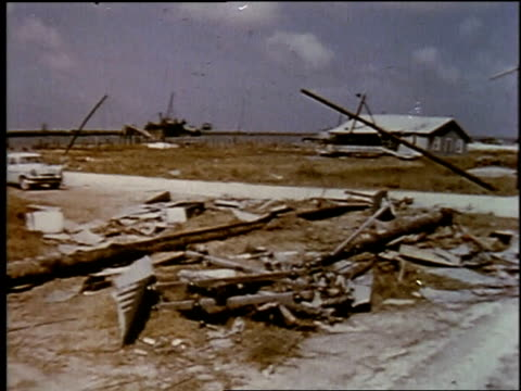 remains of destroyed house / boat on street - 1957 stock videos & royalty-free footage