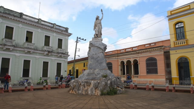 Remedios, Cuba: Replica of the Statue of Liberty made with white marble from the Carrara quarry