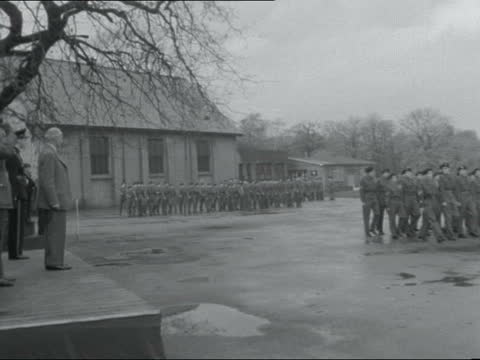 field marshal montgomery takes salute at royal wanstead school for boys; ** digitised version of vs101163015 ** england: london: royal wanstead... - cadet stock videos & royalty-free footage