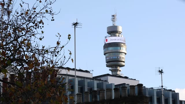 remembrance day, poppy appeal, bt tower sign on 10th november, 2020 in london, england. - the alphabet stock videos & royalty-free footage