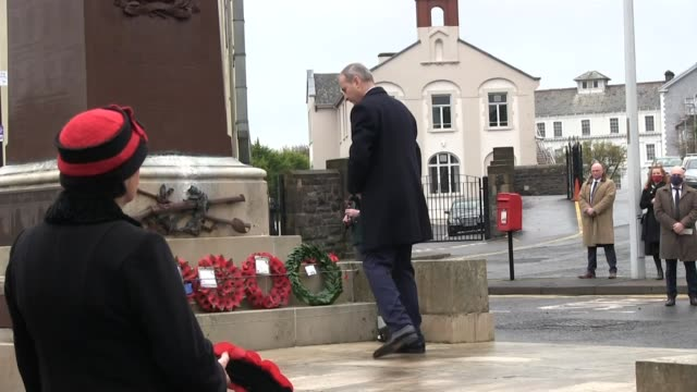 remembrance day service in enniskillen co fermanagh. attended by taoiseach micheal martin, northern ireland first minister arlene foster and nio... - robin day stock videos & royalty-free footage