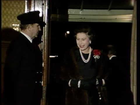 royal family at albert hall england london royal albert hall int cs queen mother on arrival cs queen duke and charles shake hands on arrival cs... - royal albert hall stock videos & royalty-free footage