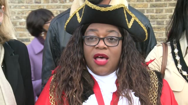 remembrance sunday ceremony at memorial to african and caribbean soldiers; england: london: brixton: ext jak beula interview sot councillor marcia... - remembrance sunday stock videos & royalty-free footage