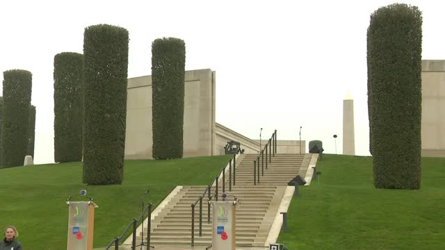 national memorial arboretum service; england: staffordshire: national memorial arboretum: ext service part 6 of 6 singers away zoom out - national memorial arboretum stock videos & royalty-free footage